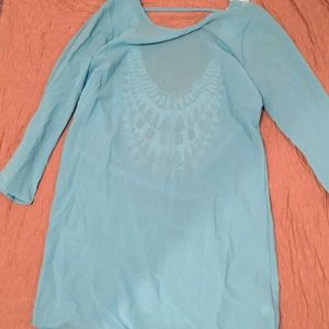 Other - Aqua Beach Cover Up Large